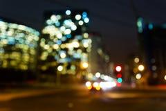 Bokeh miasto Fotografia Stock