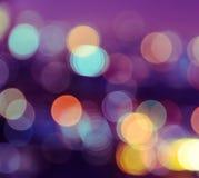 Bokeh miasto zaświeca tło Fotografia Royalty Free