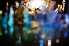 Bokeh mit multi Farben, festlicher Lichter bokeh Hintergrund, Defocu lizenzfreies stockfoto