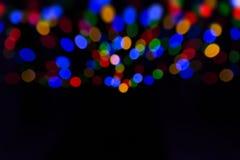 Bokeh mit multi Farben, festlicher Lichter bokeh Hintergrund, abstrakter bunter bokeh Hintergrund lizenzfreie stockfotos