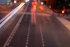 Bokeh motorway at night as an abstract background.  royalty free stock photos