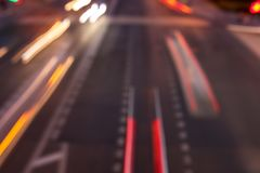 Bokeh motorway at night as an abstract background.  royalty free stock photo