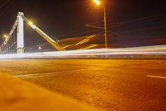 Bokeh motorway at night as an abstract background.  royalty free stock photography
