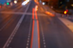 Bokeh motorway at night as an abstract background.  royalty free stock images