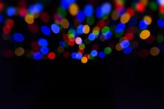 Bokeh with multi colors,Festive lights bokeh background, Abstract Colorful bokeh background. royalty free stock photos