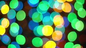 Bokeh multi Defocused de réflexions de la lumière de couleur 4K clips vidéos