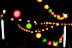 Bokeh multicolore de cercle Photos libres de droits