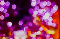 Bokeh multicolore Garlans di nuovo anno Umore festivo Struttura Fotografia Stock Libera da Diritti