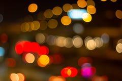 Bokeh na noite Fotografia de Stock