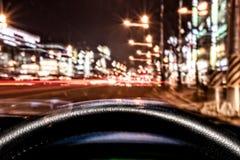 Bokeh-Nacht beleuchtet Hintergrund Lizenzfreie Stockfotografie