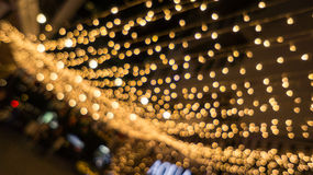 Bokeh-Nachtlebenunschärfe und defocus, Festival in Bangkok Thailand Stockfotografie