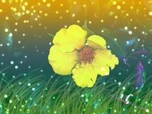 Bokeh natural background. Vibrant background with shiny bokeh. royalty free illustration