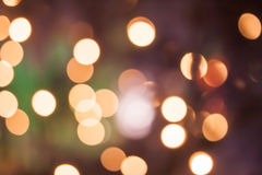 Bokeh of New Year lights in Ljubljana Royalty Free Stock Image