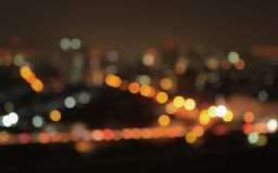 Bokeh of night city Stock Photo