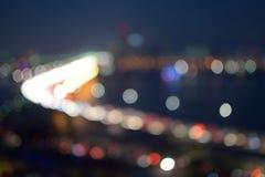 Bokeh of night city Royalty Free Stock Image