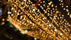 Bokeh night life blur and defocus, festival in Bangkok Thailand Stock Photo