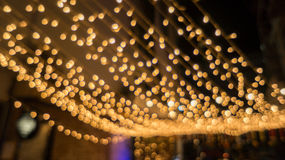 Bokeh night life blur and defocus, festival in Bangkok Thailand Royalty Free Stock Photo