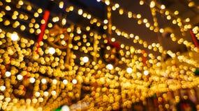 Bokeh night life blur and defocus, festival in Bangkok Thailand Stock Photography