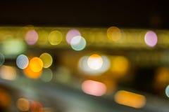 Bokeh night life blur and defocus traffic in Bangkok Thailand, N Stock Image