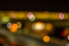 Bokeh night life blur and defocus traffic in Bangkok Thailand, N Royalty Free Stock Image