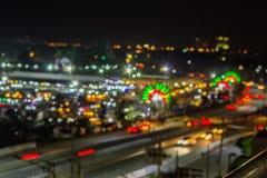 Bokeh night life blur and defocus traffic in Bangkok Thailand, N Stock Photo