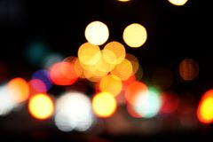 Bokeh night light abstract background. City night light blur bokeh defocused background royalty free illustration