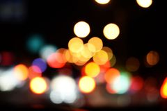 Bokeh night light abstract background. City night light blur bokeh defocused backgroundn stock illustration