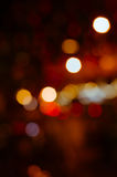 Bokeh of Night Light In Blurred Background. Color bokeh of night light in blurred background Stock Image