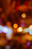 Bokeh of Night Light In Blurred Background. Color bokeh of night light in blurred background Royalty Free Stock Photo