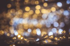 Bokeh night light with small LED light for Decorative lights in