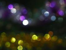 Bokeh night. Bokeh multi colored in the night Royalty Free Stock Photos