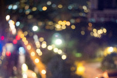 Bokeh in the nightlife Royalty Free Stock Images