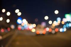 Bokeh nightlife My very beautiful. Bokeh nightlife The road is very beautiful Stock Photos