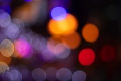 Bokeh during nighttime stock image