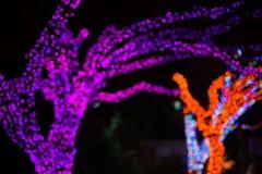 Bokeh o le luci di natale defocused in albero modella Immagine Stock Libera da Diritti