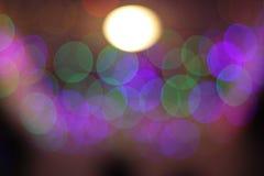 Bokeh obscuro em uma noite nevoenta Fotografia de Stock