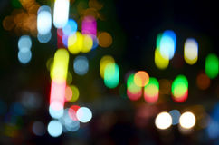 Bokeh occur from Neon lighting Royalty Free Stock Photography