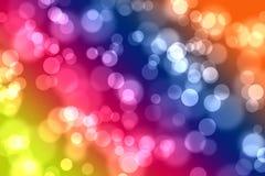 Bokeh op multikleurenachtergrond Stock Foto