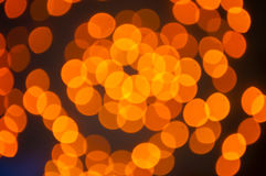 Bokeh orange Photographie stock libre de droits