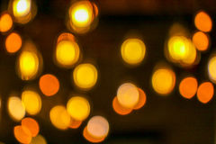 Bokeh - orange circle. Orange light on the street Royalty Free Stock Photography