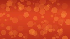 Bokeh orange pour des recouvrements de texture de fond Scintillement magique image stock