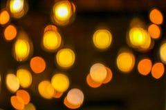 Bokeh - oranje cirkel Royalty-vrije Stock Fotografie