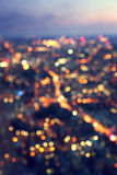Bokeh (out of focus) night London Stock Photos