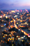 Bokeh (out of focus) night London, view from shard Royalty Free Stock Image