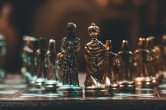 Bokeh Photo of Chess Pieces stock photography