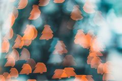 Bokeh Photography of Orange Lights Stock Image