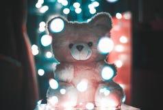 Bokeh Photography of Pink Bear Plush Toy Royalty Free Stock Photos