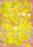 Bokeh plama, żółta tło plama Obrazy Stock