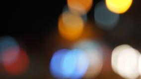 Bokeh plamy zoom przy oświetleniem na drodze Obrazy Royalty Free
