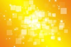 Bokeh quadrato su priorità bassa gialla Fotografie Stock Libere da Diritti